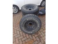land rover wheels and AT tyres