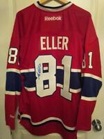 LARS ELLER SIGNED MONTREAL CANADIENS JERSEYS NEW W/ TAGS XL