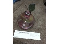 Anthropologie apple shaped decanter