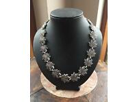 """16"""" oxidised maple leaf choker necklace Mothers Day!"""