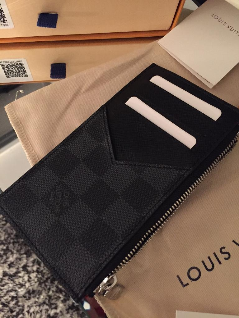 a86ce73a6947 Louis Vuitton Damier Graphite card coin wallet