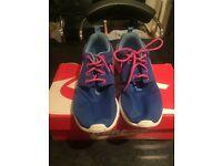 Woman's Nike Roshe trainers, size 3, worn twice
