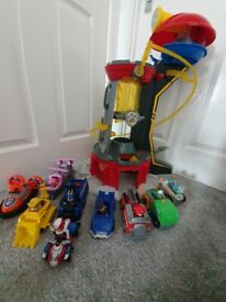 Paw patrol car and tower bundle