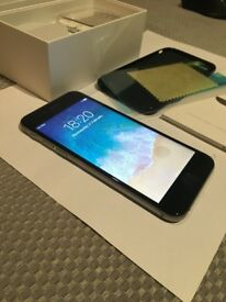 GENUINE APPLE IPHONE 6 64GB UNLOCKED, BLACK/GREY, PERFECT CONDITION, WITH ACCESSORIES