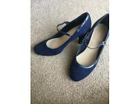 Navy Blue Heels Size 7