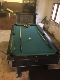 7 by 4 pool table