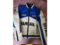 Kids yamaha leather jacket