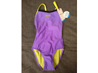 Womens Speedo, Purple/Yellow, size 8 / 30