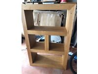 Beautiful modern wood shelving unit