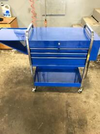Snap on blue point roll cart