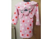 Debenhams Bluezoo – Girls hooded dressing gown – size 12-18 months
