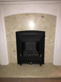 Fire surround, Gas fire, Marble & Hearth