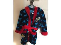 Thomas the tank engine dressing gown.size 2-3yrs