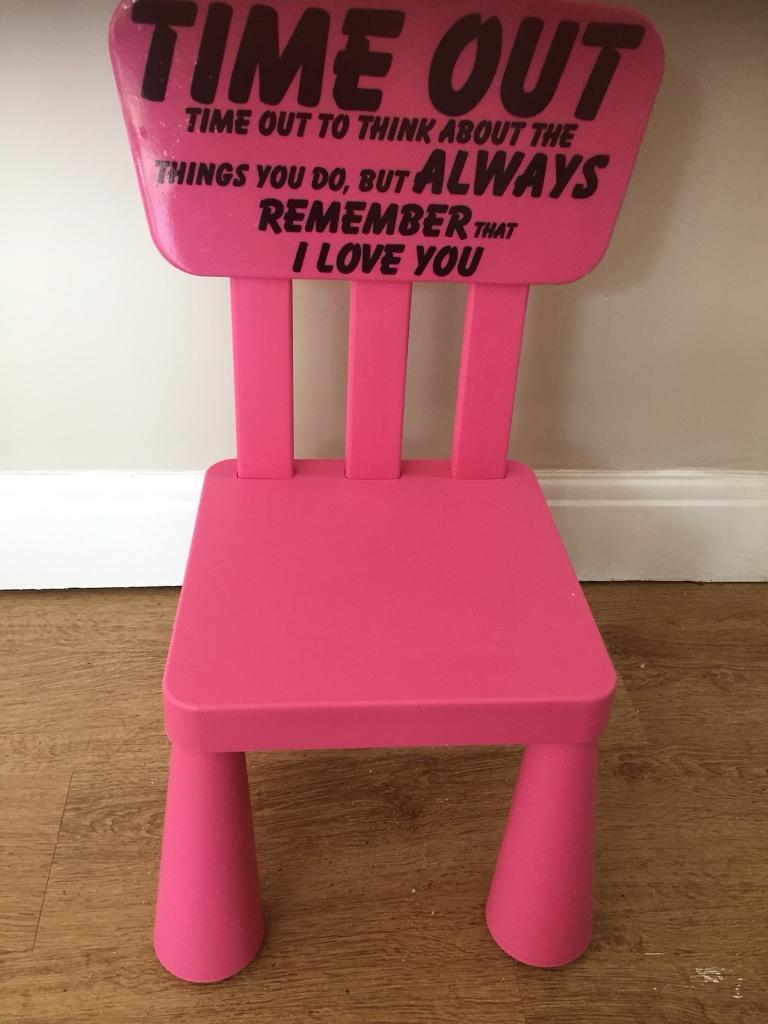 Free To Collector Little Girls Naughty Chair In Bishopsworth