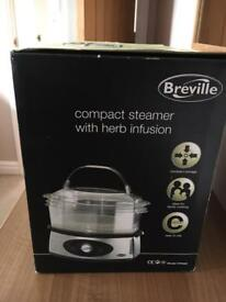 Breville compact steamer with herb infusion
