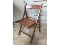 Folding wooden chairs x4