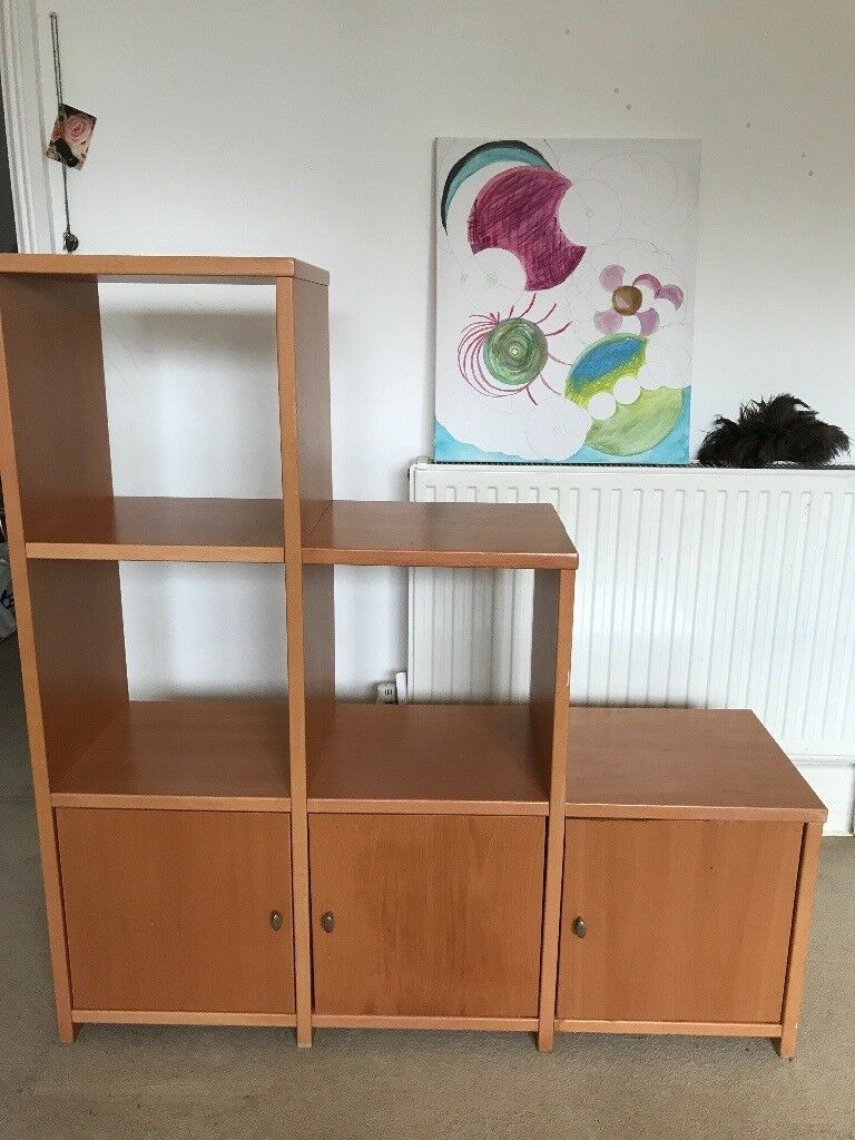 Storage unit - 3 tiered (stepped) with double-sided cupboards