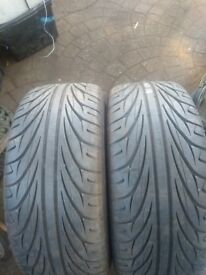 Pair 225 40 18 Tyres with 7mm tread in greenford Area Offer Considered