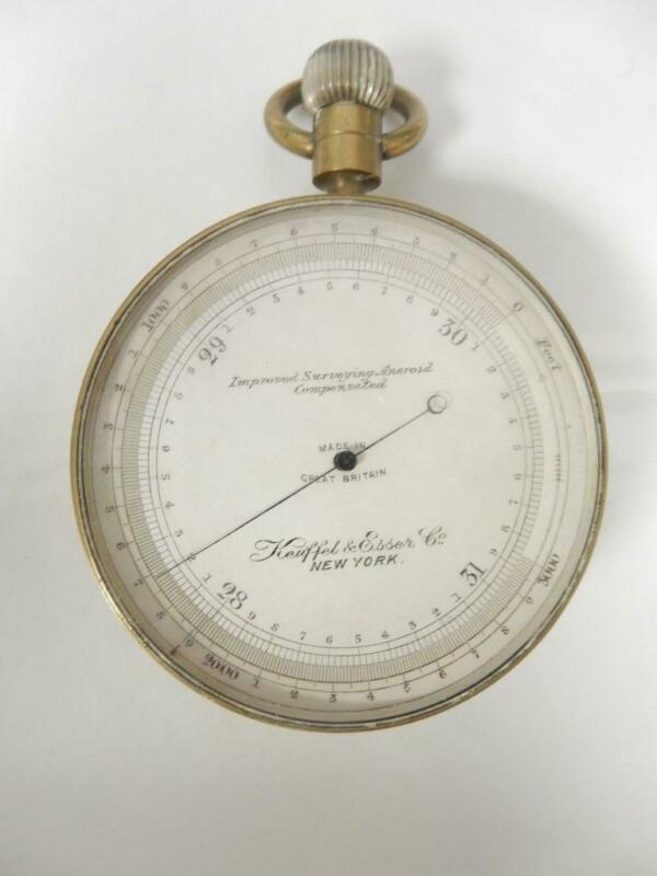 Keuffel & Esser Co. Barometer, Improved Surveying Aneroid Compensated   #HA14