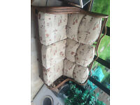 Cane 3 Seater Couch, suitable for Conservatory or Lounge