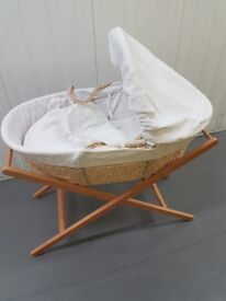John Lewis Baby Moses Basket with Stand