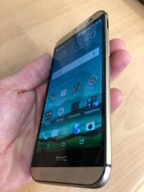 HTC One M8 gold 32gb 4G factory unlocked as new