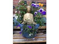 Large Golden Buddha statue planter VERY HEAVY