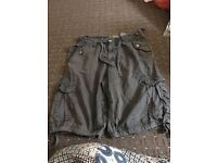 Men's black shorts size M