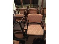 8 x Art Deco Vintage Dining Chairs