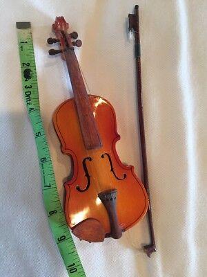 Miniature String Instrument Violin Cello Bass Fiddle Wood Vintage Antique 9