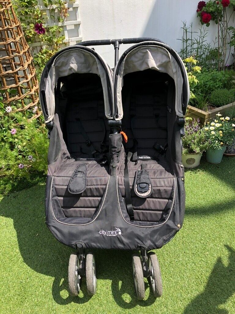 Mountain Buggy Baby Jogger City Mini Double In Black Raincover Great Condition In Wimbledon London Gumtree