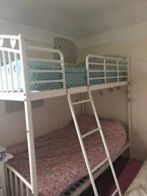 Next heart metal bunk bed