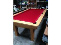 Pool table slate bed Mbro footballers table
