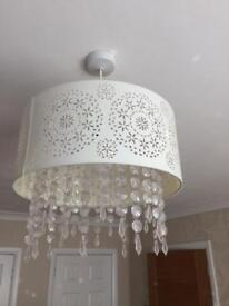 Cream crystal lightshade