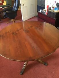 Round Dining Table Flip Top Excellent £65 ono