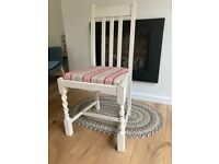 Vintage solid wood painted dining chair