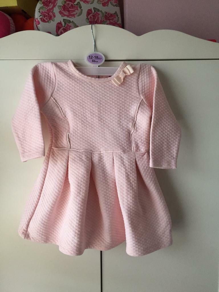 Ted baker baby Girl pink dress 12-18m worn once