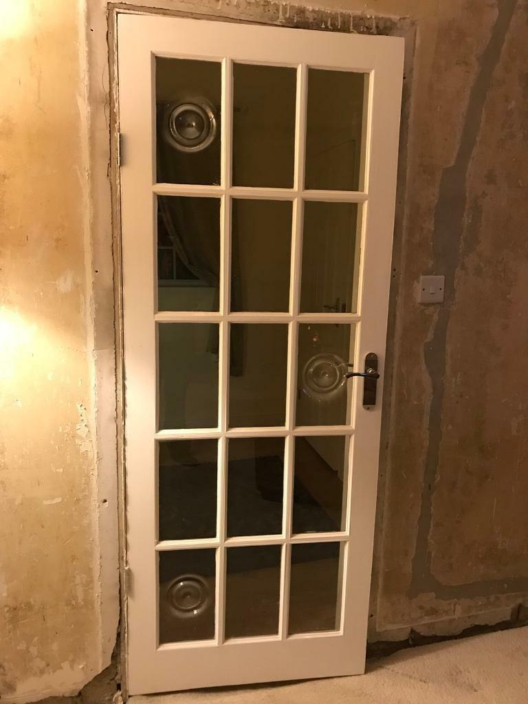 Georgian internal white doors with bulls eye glass