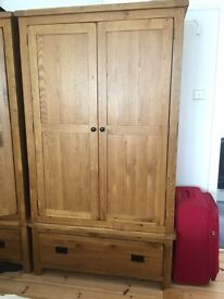 Rustic Oak Wardrobe