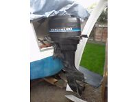 Mercury 20 outboard engine tiler 2 stroke running