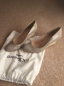 L K Bennett Patent Wedge Heel Shoes