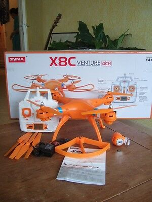 Syma X8C Venture with 2MP Wide Angle Camera 2.4G 4CH RC Quadcopter - Orange