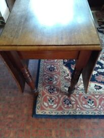 Victorian drop leaf oak table