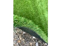 Artificial grass off the roll or remnants