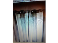 lovely grey stripped curtains approx 66 x 72 . x 2 PAIRS non smoking home 6 months old