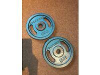 2x 5kg barbells for sale £10