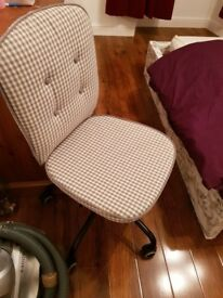 As new chair for sale - white and grey colour