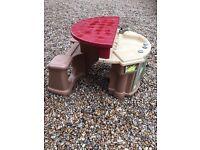 step 2 patio / bbq bench /kitchen