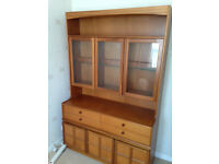 vintage teak cabinet cupboard G plan with glass window mid century