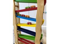 Wooden Toy Roller Track